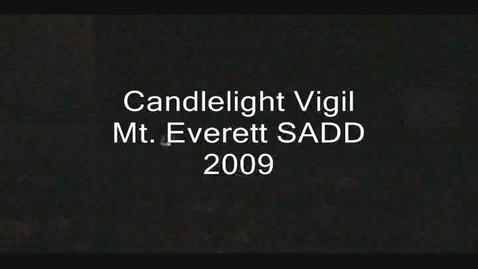 Thumbnail for entry Mt. Everett SADD Candlelight Vigil