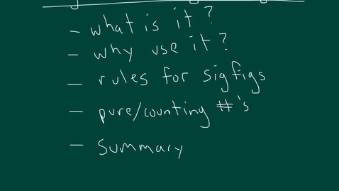 Thumbnail for entry Significant Figures