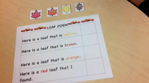 Thumbnail for entry Leaf Poem Read Along Activity