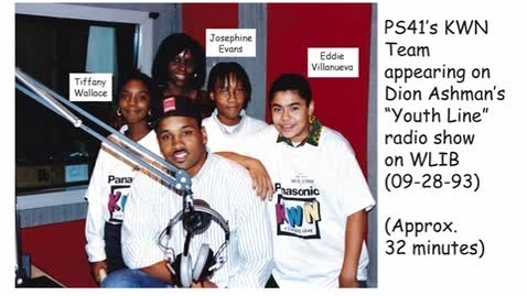 "Thumbnail for entry (1993) RADIO SHOW - KWN on Dion Ashman's ""Youth Line"" WLIB (1190)"