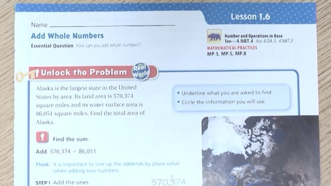 Thumbnail for entry Math Lesson 1.6