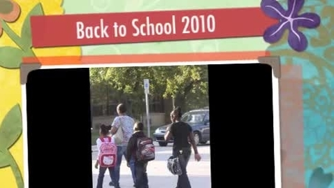 Thumbnail for entry First Day of School 2010