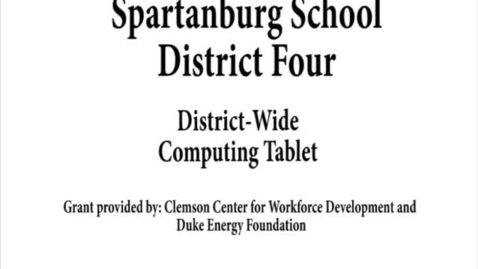 Thumbnail for entry Spartanburg Four District Wide Computing Tablet