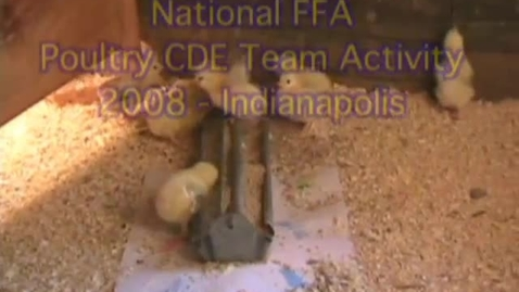 Thumbnail for entry 2008 National FFA Poultry CDE Team Activity Scenario