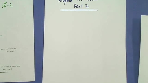 Thumbnail for entry Algebra Test Review Part 2