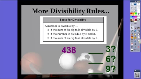 Thumbnail for entry Divisibility Rule for 6