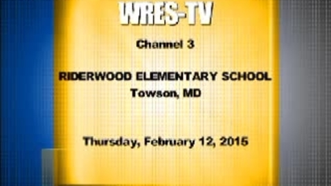 Thumbnail for entry February 12, 2015, WRES-TV Morning Annoucements
