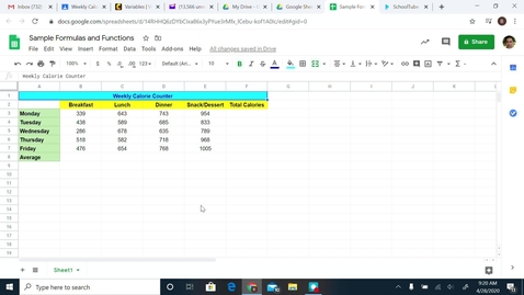 Thumbnail for entry Formulas and Functions