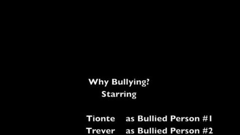 Thumbnail for entry On Bullying