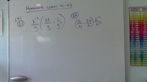 Thumbnail for entry Saxon Algebra 1 - Homework Questions from 41-43