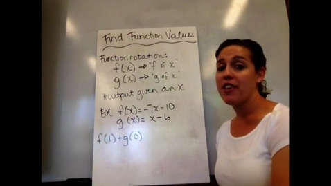 Thumbnail for entry Pre-Alg - Sect 11-5 Find Function Values
