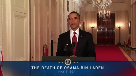 Thumbnail for entry President Obama on Death of Osama bin Laden