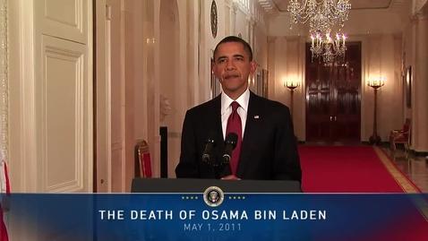 Thumbnail for entry President Obama on Death of Osama bin Laden