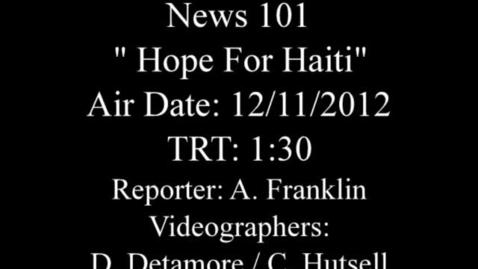 Thumbnail for entry Hope for Haiti