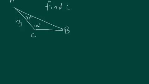 Thumbnail for entry Marcum trigonometry law of sines 2