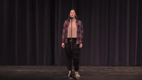 Thumbnail for entry Poetry Out Loud Petersburg High School Champion Elisa Larson