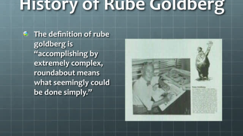 Thumbnail for entry 2011 WH Physics Final Rube Goldberg Project