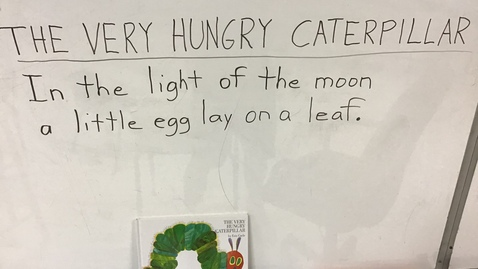 Thumbnail for entry Writing Words for 'The Very Hungry Carepillar'
