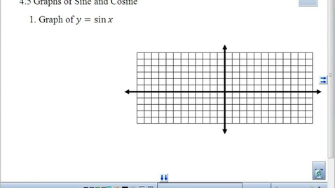 Thumbnail for entry 4.5 Graphing Sine and Cosine