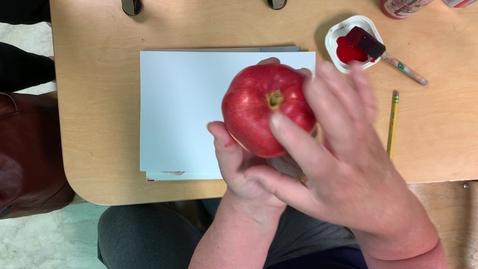 Thumbnail for entry Apple Stamping Art