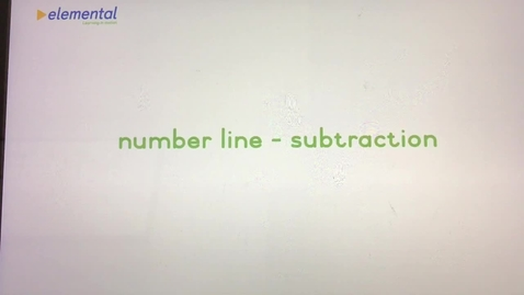 Thumbnail for entry Number Line Subtraction