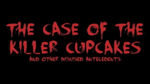 Thumbnail for entry Cupcakes & Antecedents
