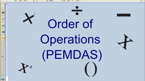 Thumbnail for entry Order of Operations