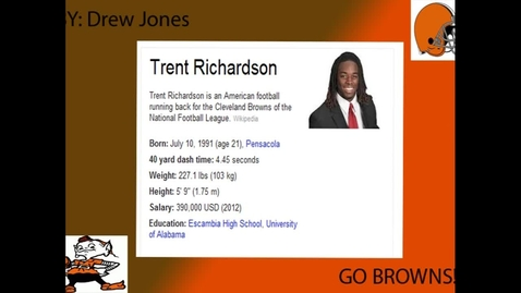 Thumbnail for entry Trent Richardson - Drew's BB project