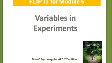 Thumbnail for entry Variables in Experiments