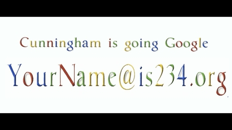 Thumbnail for entry Cunningham is Going Google