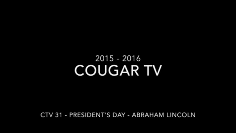Thumbnail for entry Capital High School 2015 - 2016 Cougar TV Show 32