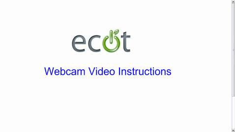 Thumbnail for entry Webcam Video Instructions