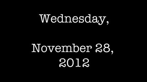 Thumbnail for entry Wednesday, November 28, 2012