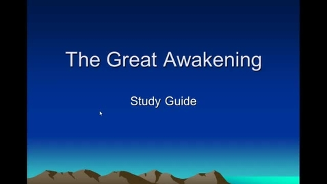 Thumbnail for entry Great Awakening Review