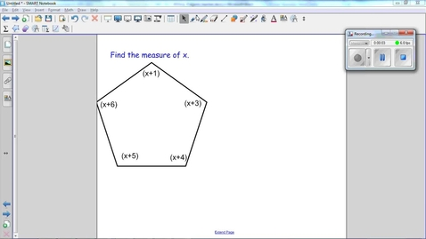 Thumbnail for entry Polygons Question 3, using the sum of interior angles