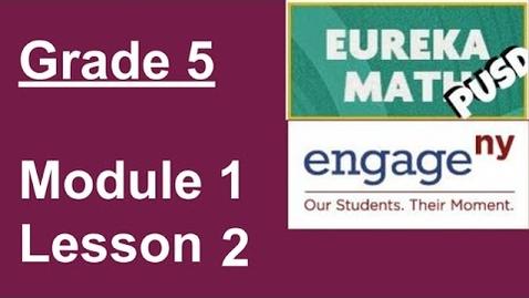 Thumbnail for entry 8/27/20: Eureka Math Grade 5 Lesson 2