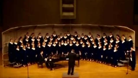 Thumbnail for entry Luther College Nordic Choir sings How Can I Keep From Singing
