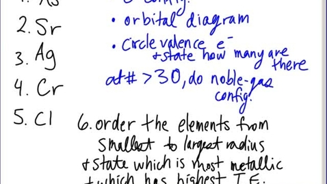 Thumbnail for entry Stephens Pre-AP Chemistry: Post-break review and naming ions intro