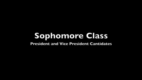 Thumbnail for entry VCHS Sophomore Candidates 2012