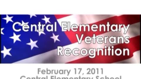Thumbnail for entry Central Elementary Veterans Recognition Program
