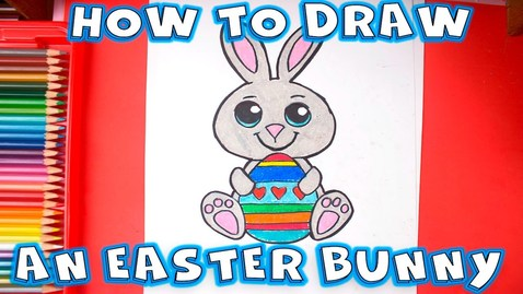 Thumbnail for entry How to Draw an Easter Bunny - Easy Drawings Step by Step