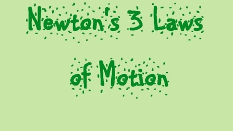 Thumbnail for entry Newton's law of motion: E period