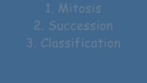 Thumbnail for entry Topics in Biology