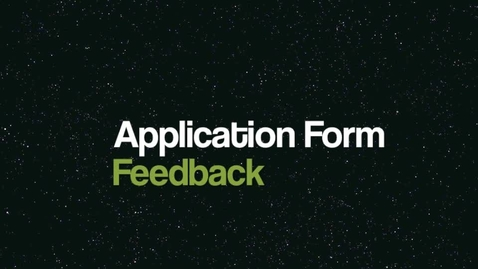 Thumbnail for entry Lower Sixth Feedback Video:  Analysing collected Application Forms