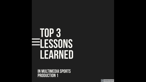 Thumbnail for entry Top 3 lessons learned in MMSP 1