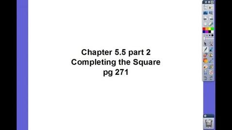 Thumbnail for entry Algebra II Ch 5.5 pt 2