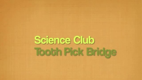 Thumbnail for entry Amazing Toothpick Bridges DCES Science Club photos