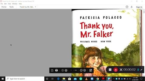 Thumbnail for entry Read Aloud - Thank you Mr. Falker by Patriccia Polacco