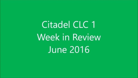 Thumbnail for entry Citadel CLC 1 Leadership Camp June 2016