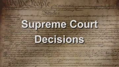 Thumbnail for entry Famous Supreme Court Decisions